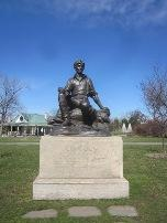The statue of Abraham Lincoln in Delaware Park will eventually be restored.