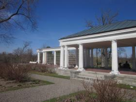 While still standing, the pergola at Delaware Park is crumbling in some spots.