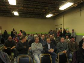 A large crowd at the West Side Community Center was calling for Verizon to provide its FIOS service in Buffalo.