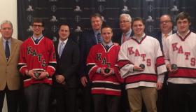 HarborCenter officials joined with ECC Kats players Tuesday in making the announcement.
