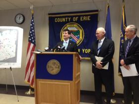 Erie County Executive Mark Poloncarz & County Commissioner of Public Works John Loffredo.