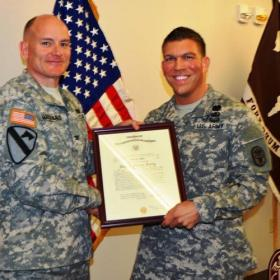 Major Patrick Miller (right) was wounded in Wednesday Fort Hood shooting spree.