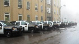 New Chevy Tahoes for the Buffalo Police Department.