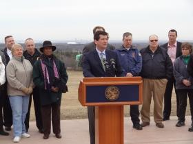 Erie County Executive Mark Poloncarz kicked-off National Volunteer Week 2014 with Erie County Commissioner of Parks, Recreation and Forestry Troy Schinzel. (far right)
