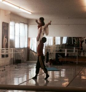 Neglia twirls Silvina Vaccarelli.