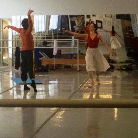 Sergio Neglia & Silvina Vaccarelli rehearse a Pas de Deux for Romeo & Juliet at Neglia's Elmwood Avenue studio in Buffalo.