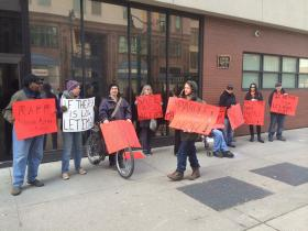 Protesters believe changes are needed in the state parole system.