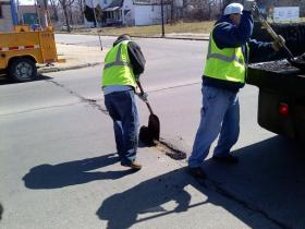Crews making pothole repairs on area roads.