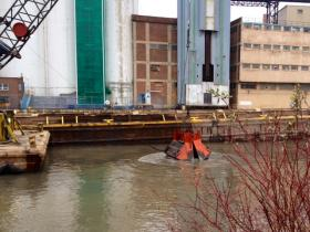 Buffalo River dredging at Union Ship Canal in Buffalo.