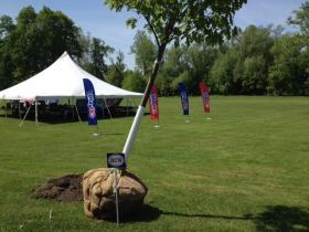 An oak tree was planted in memory of Buffalo Bills founding owner Ralph Wilson Jr. in Cazenovia Park in South Buffalo.