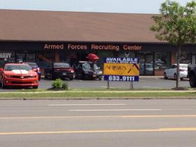 Armed Forces Recruiting Center on Sheridan Drive investigated after suspicious man entered early Tuesday morning.