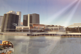 Rendering of the Buffalo RiverWorks entertainment and event center.