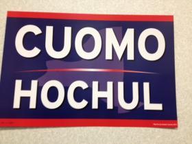 Cuomo/Hochul campaign sign.