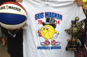 The 2014 Gus Macker tournament basketball and t-shirt.