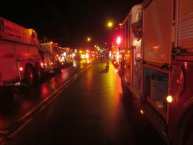 Most of the city's available fire units were called to the Delaware Avenue fire Wednesday night.