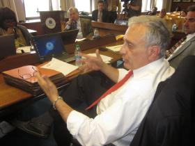 Carl Paladino was criticized Wednesday by fellow Board Member Sharon Belton Cottman.