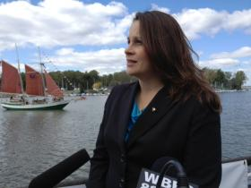 Buffalo Riverkeeper executive director Jill Jedlicka at Buffalo's Canalside.
