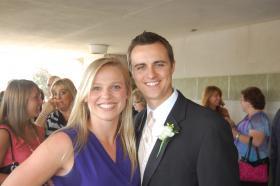 Natalie Lewis & fiance Michael Dougher.