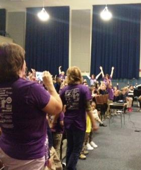 Lorraine Elementary students in Buffalo recently held an anti-bullying assembly.
