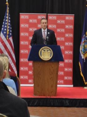 Lt. Governor Robert Duffy, past appearance at Rich Products in Buffalo, NY.