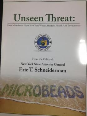 The report: 'Unseen Threat: How Microbeads Harm New York Waters, Wildlife, Health And Environment.'