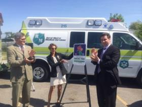 Erie County Health Commissioner Dr. Gale Burstein celebrated Rural/Metro's new tobacco-free policy.