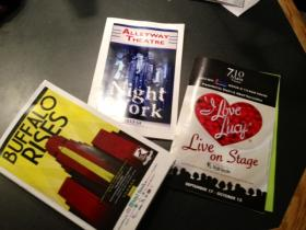 Various theater programs from Buffalo's Theater District.