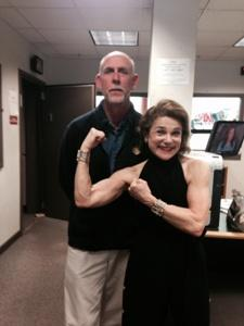 Tovah Feldshuh has some fun posing with WBFO'S Morning Edition host Jay Moran following their in-studio interview.