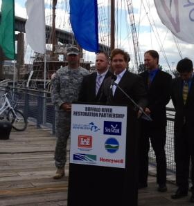 Western New York Congressman Brian Higgins at Canalside.