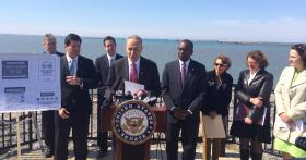 With Lake Erie as the back drop, Senator Charles Schumer on Monday called for new laws to protect local water quality.