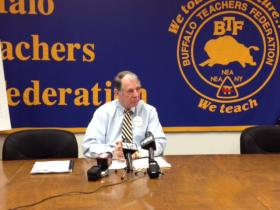 BTF President Phil Rumore released the details of a charter school report on Thursday.