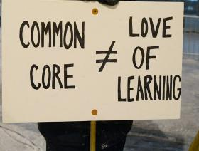 Past Common Core protest signs from citizens.