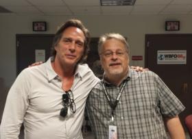 Actor William Fichtner with WBFO Blues host Pat Feldballe