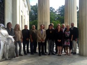 2014 Buffalo Music Hall of Fame inductees pose for photos at the Buffalo History Museum.
