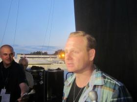 Nik Wallenda talked with reporters about his Sunday night stroll high above the Erie County Fair.