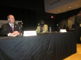 Tensions were evident during the debate between State Senator Tim Kennedy and Erie County Legislator Betty Jean Grant.