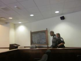 Accused killer Joseph Gant was denied bail before led away in Erie County Court.