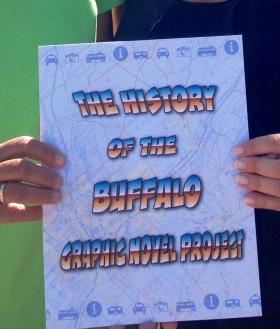The History of Buffalo Graphic Novel created through a summer project hosted by Literacy New York Buffalo-Niagara at Canalside.