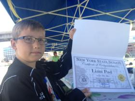 10-year-old Liam Post participating in the program.