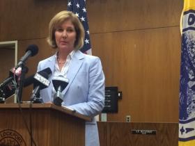Lockport Mayor Anne McCaffrey addresses city's fiscal problems.