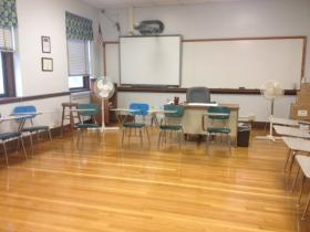 Kirsten Kenney's classroom at Sacred Heart Academy in Buffalo.
