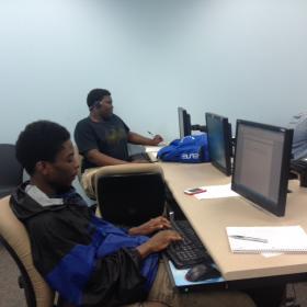 Students taking the Say Yes summer program at ECC.