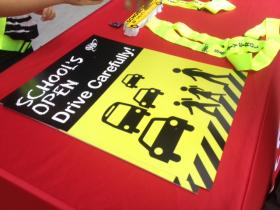 """School's Open -- Drive Carefully"" campaign"