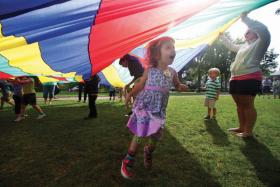 Children enjoy outdoor activity at the Chautauqua Institution