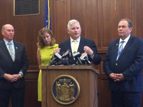 Orchard Park Supervisor Patrick Keem, Erie County Legislator Lynne Dixon, and Assemblymen Michael Kearns and John Ceretto are calling for stadium group transparency.