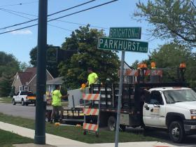 Work will continue along Brighton Road for the next several months.