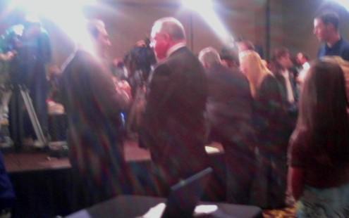 Congressman Reynolds conducting television interviews on elelction night