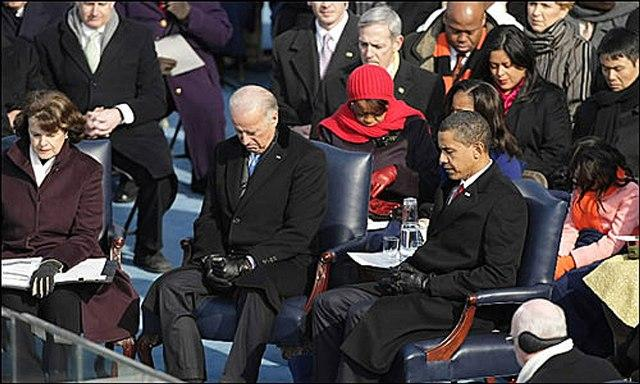 President & Vice President seated in Kittinger chairs from Buffalo during Inauguration