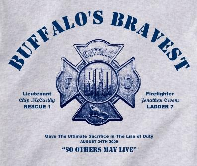 Tee shirts to raise funds for the families of Lt. McCarthy & Firefighter Croom
