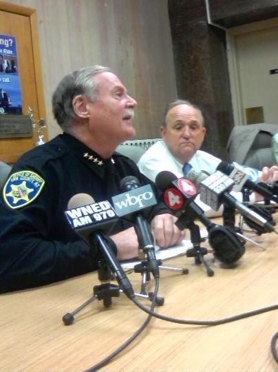 Erie County Sheriff Howard tells reporters he will not resign